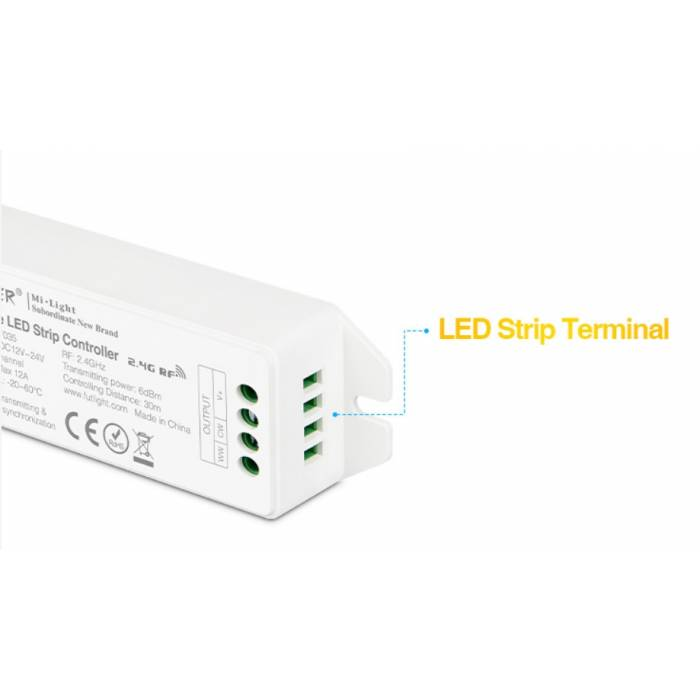 Abcled.ee - LED контроллер Dimmer 12A 12-24V 2.4GHz 4-Zone