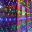 LED сетка RGB 160Led 0,8x2m с контроллером 8 программ