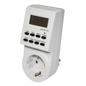 Abcled.ee - Electronic digital socket timer 7D Schuko IP20 16A