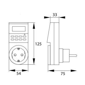 Abcled.ee - Digitaalne Taimer 7D Schuko IP20 16A 230V