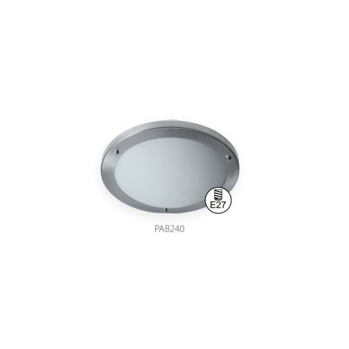 Abcled.ee - Ceiling light TOBAR PAB 2x40W Е27 steel+glass IP44