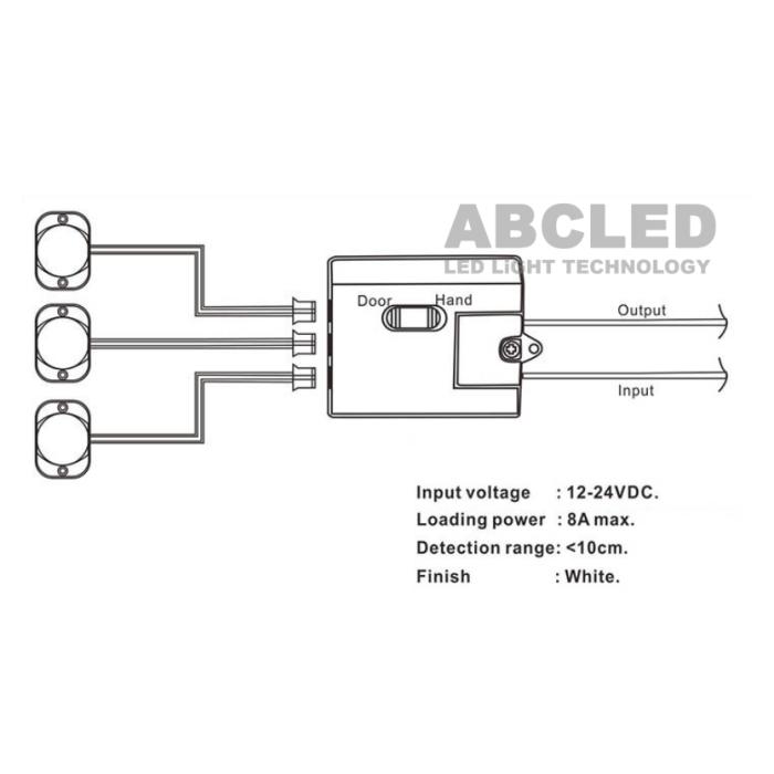 "Abcled.ee - IR sensor switch ""Door&Hand"" 8A 12-24V"