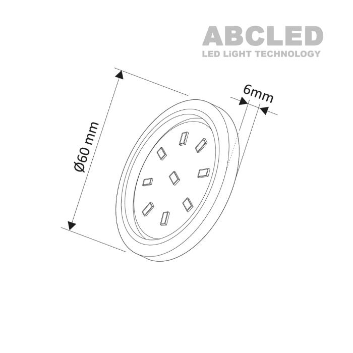 Abcled.ee - Led furniture light ORBIT Master 4000K 3W