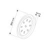 Abcled.ee - Мебельный Led светильник ORBIT Master 3000K 3W
