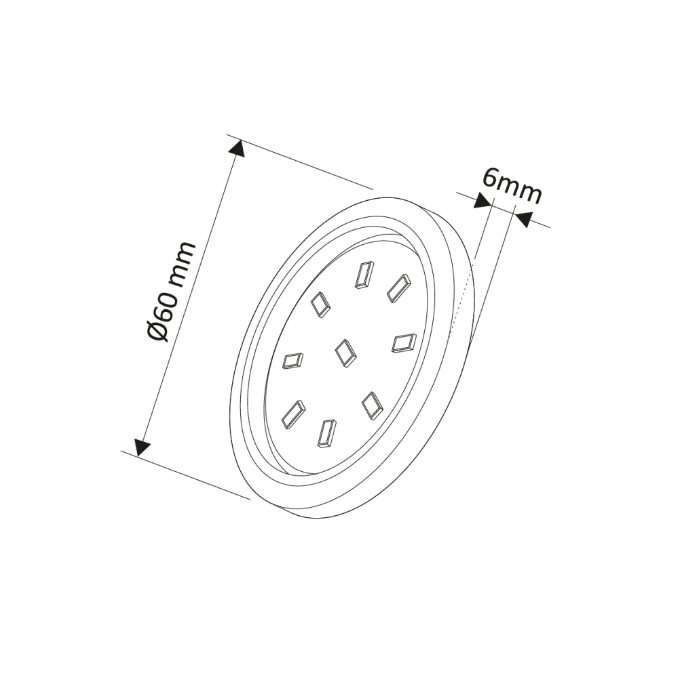 Abcled.ee - Мебельный Led светильник ORBIT Master 6000K 3W