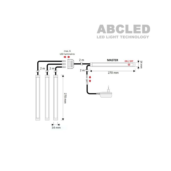 Abcled.ee - Мебельный Led светильник MASTER с сенсорным