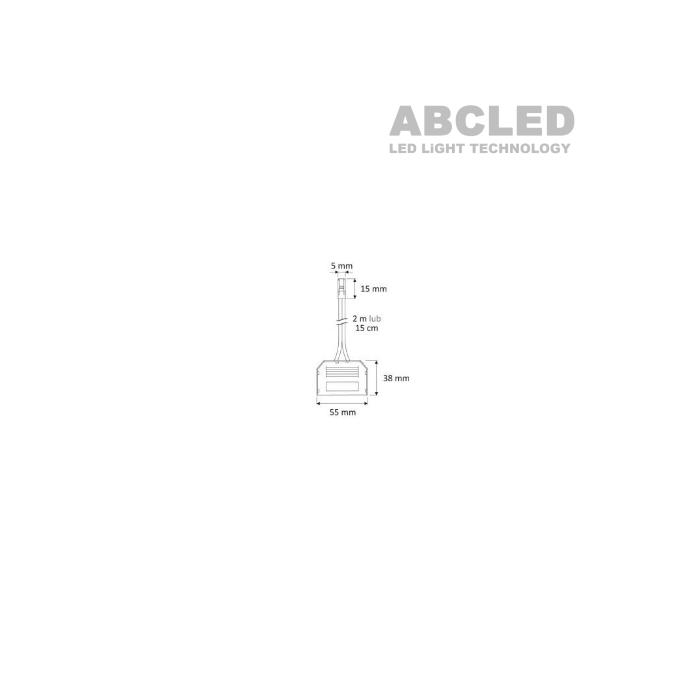 Abcled.ee - Разделитель на 6 разъемов с кабелем 2м