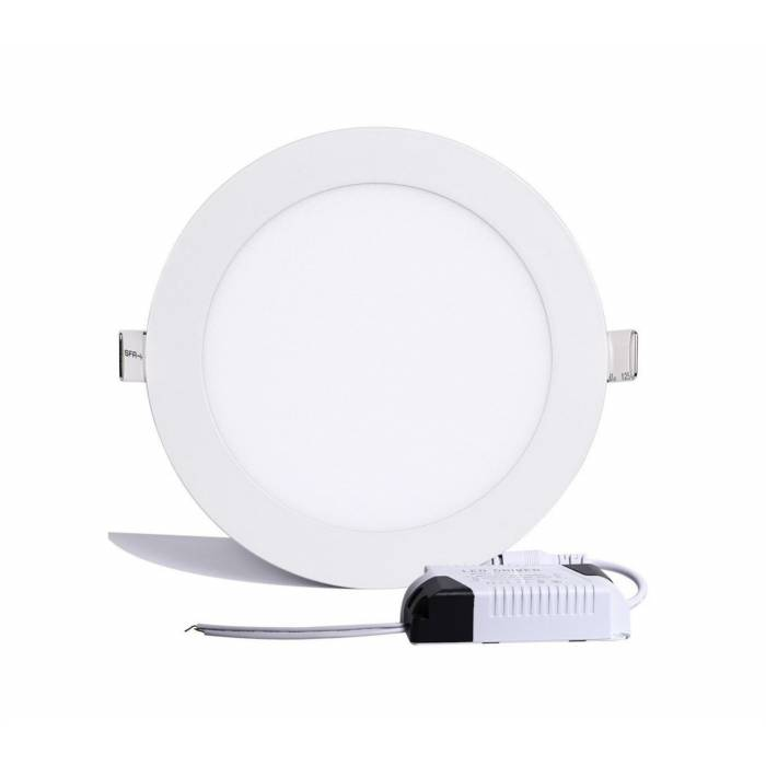Abcled.ee - LED panel light round recessed 9W 6000K 720Lm IP20