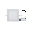 DIM LED panel light square recessed 9W 4000K 720Lm Premium