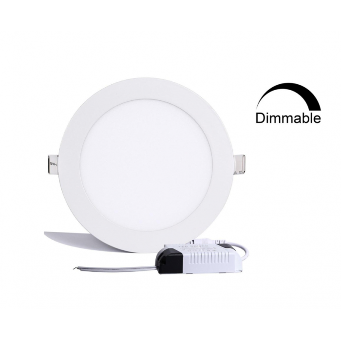 Abcled.ee - DIM LED panel light round recessed 12W 4000K 960Lm