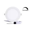 DIM LED panel light round recessed 12W 4000K 960Lm Premium