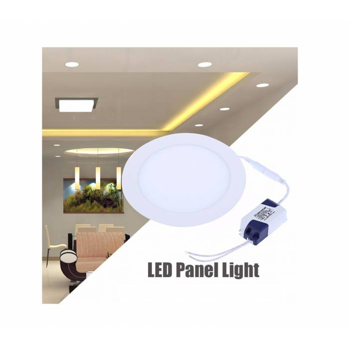 Abcled.ee - DIM LED panel light round recessed 6W 4000K 480Lm