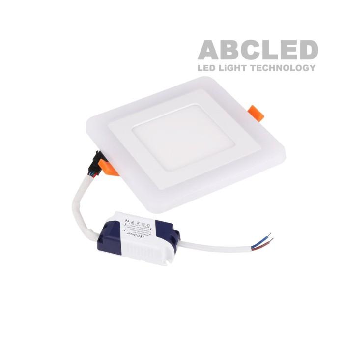 Abcled.ee - LED панель 6W+3W DualWhite 3000K+4100K квадратная