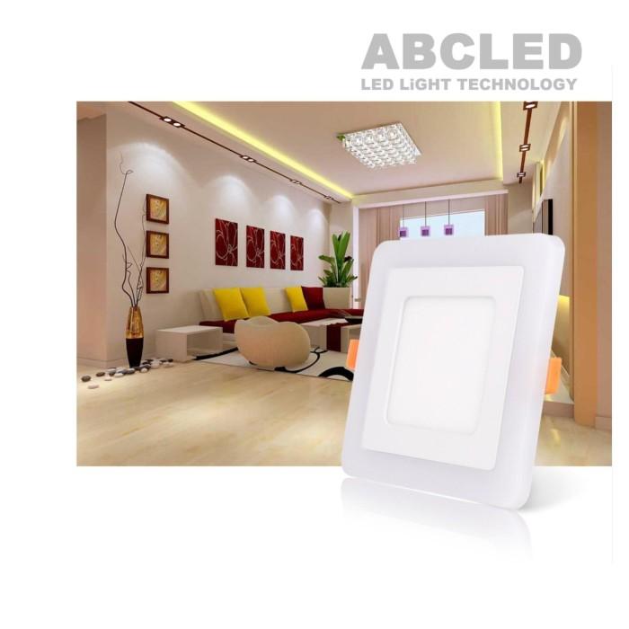 Abcled.ee - LED panel 12W+6W DualWhite 3000K+4100K square