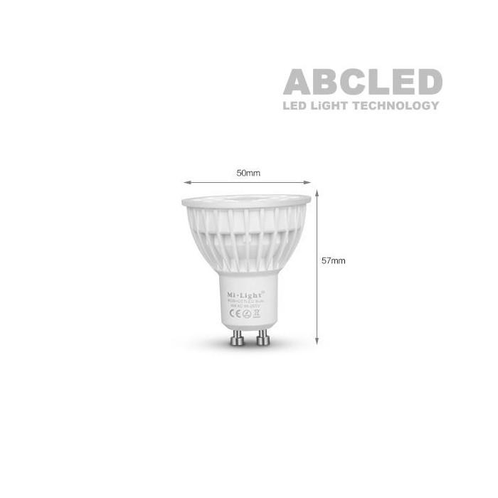 Abcled.ee - 4W RGB+CCT GU10 220V LED smart лампочка Wifi, 2.4