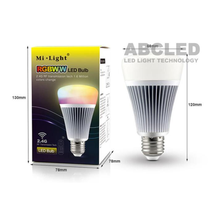 Abcled.ee - 8W DMX RGB+CCT E27 LED Light smart лампочка Wifi