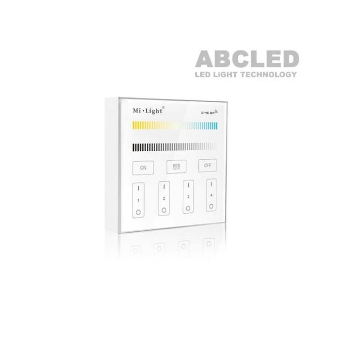 Abcled.ee - Dual White Led smart настенный пульт 2.4 GHz 4-Zone