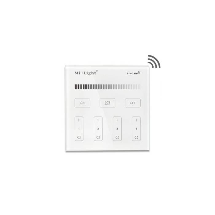 Abcled.ee - DIMMER Led smart настенный пульт 2.4 GHz 4-Zone