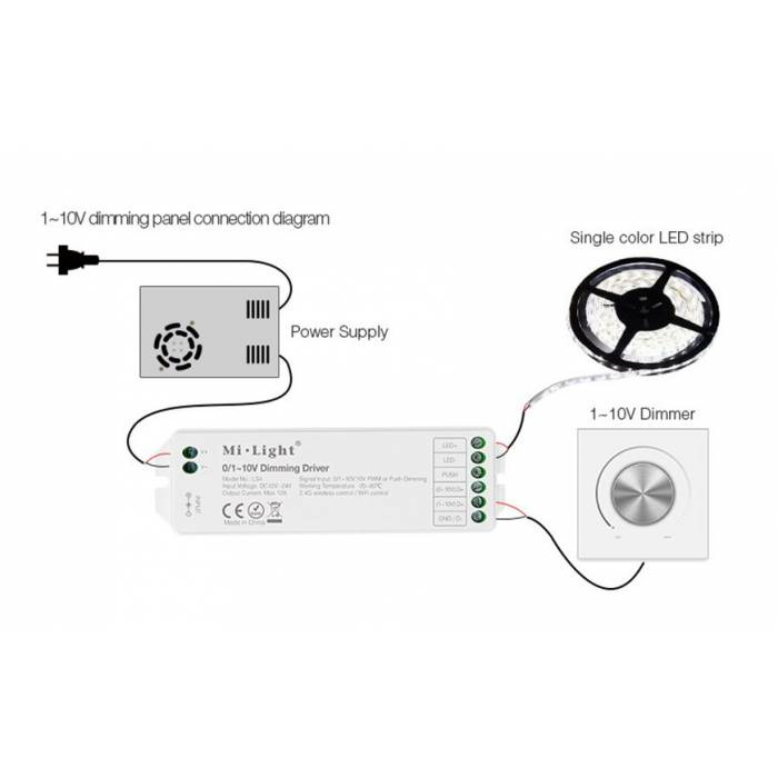 Abcled.ee - 0/1~10V Led controller Dimming Driver 12A Wifi