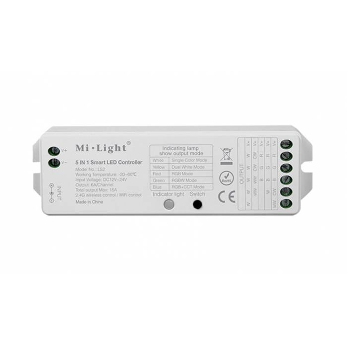 Abcled.ee - 5 in1 Led controller 15A 12-24V Wifi, 2.4 GHz