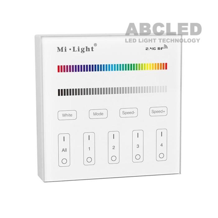 Abcled.ee - RGB/RGBW LED smart настенный пульт 2.4 GHz 4-Zone
