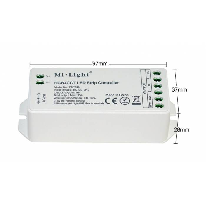 Abcled.ee - RGB+CCT Led контроллер 15A 12-24V Wifi, 2.4GHz