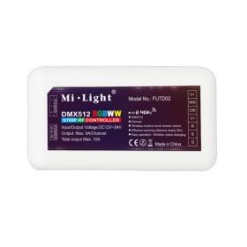 RGB+CCT DMX 512 Led kontroller 10A, Wifi 2.4 GHz MiLight