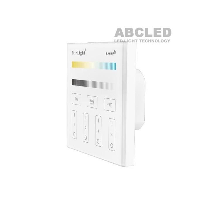 Abcled.ee - Dual White LED smart panel 2.4 GHz 4-Zone 180-240V