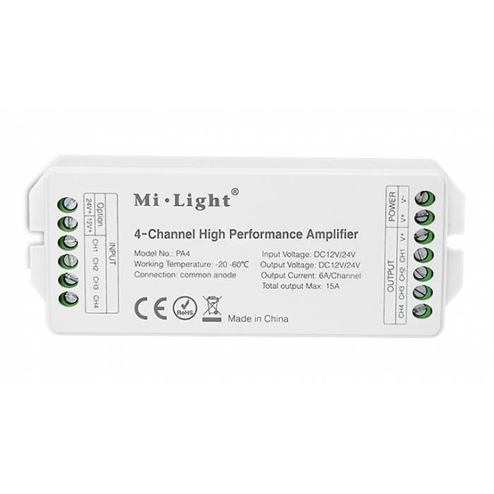 Abcled.ee - 4-Channel Hight Performance Amplifier 15A 12-24V