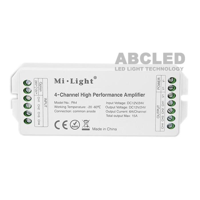 Abcled.ee - 4-канальный высокопроизводительный усилитель 15A