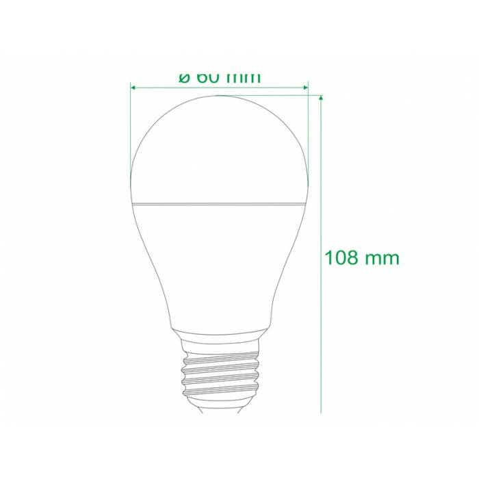 Abcled.ee - Led pirn E27 A60 3000K 5W 400LM