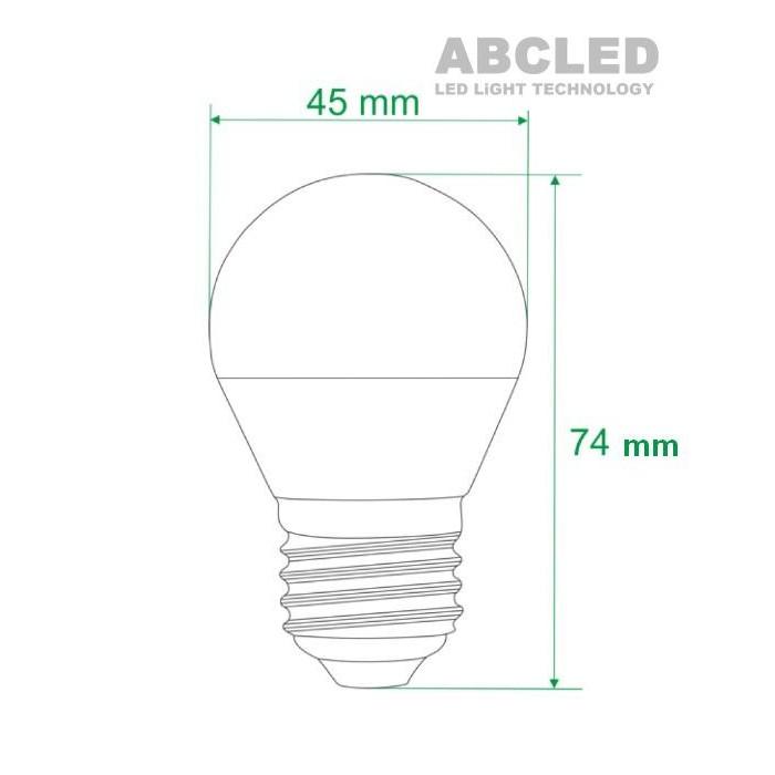 Abcled.ee - Led лампочка E27 G45 3000K 5W 400LM