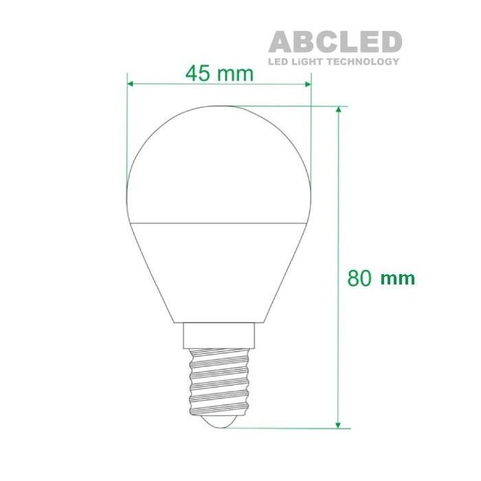 Abcled.ee - Led лампочка E14 G45 3000K 5W 400LM 230V