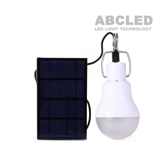 Abcled.ee - Led лампочка с солнечной батареей S-1200 6000K 5W