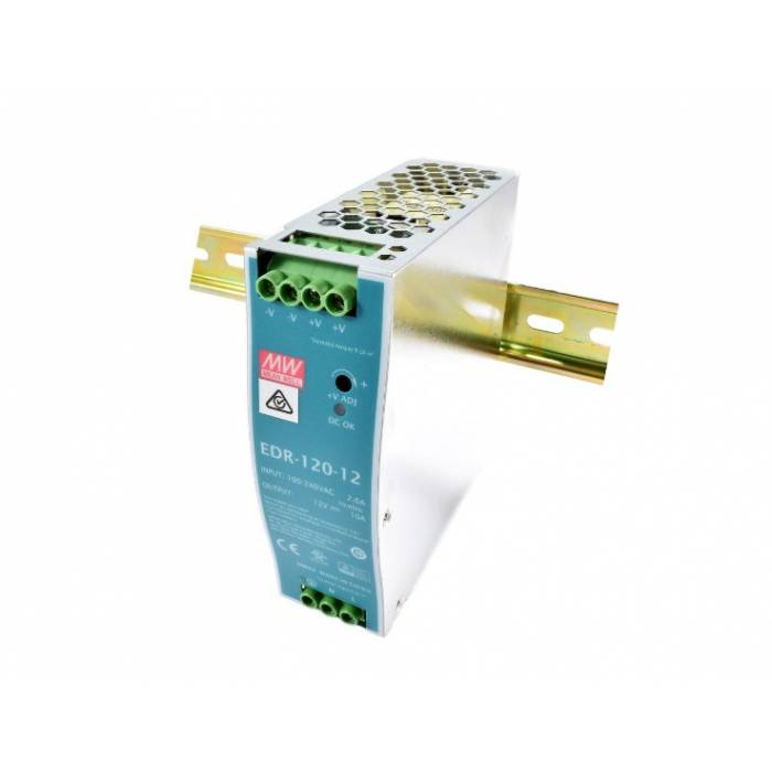 Abcled.ee - LED блок питания 12V 10A 120W EDR Mean Well DIN