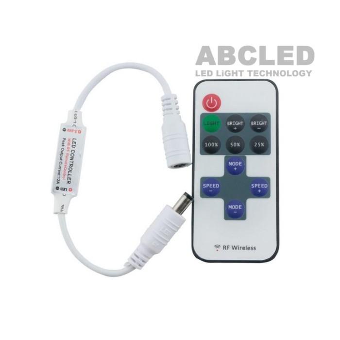 Abcled.ee - LED диммер RF mini с пультом 11 кнопок 12-24V