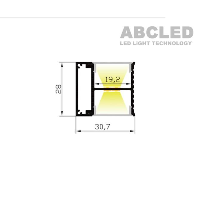 Abcled.ee - Алюминиевый профиль двухсторонний AP2828 накладной