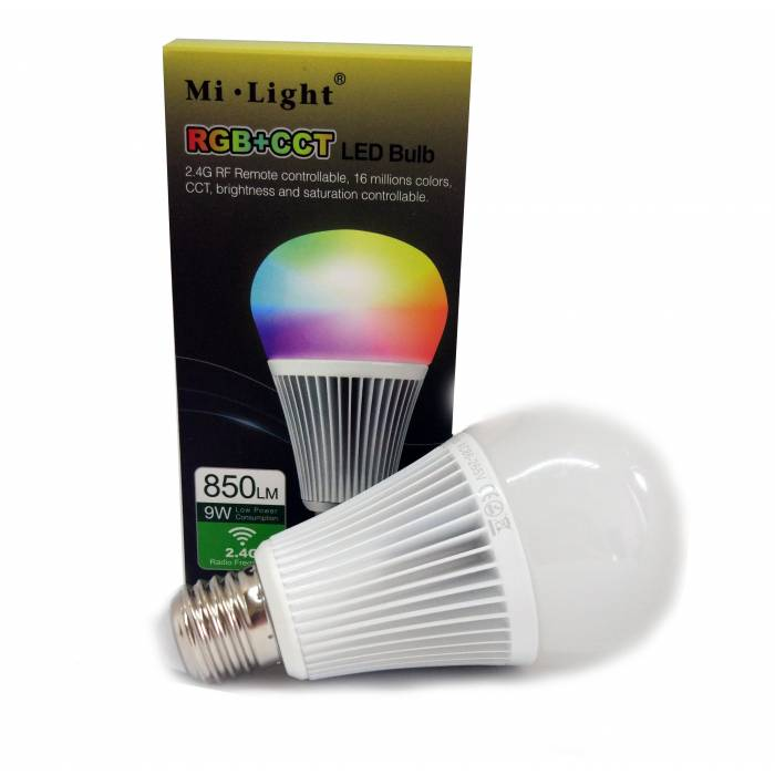 Abcled.ee - 9W RGB+CCT Led smart лампочка Wifi, 2.4GHz