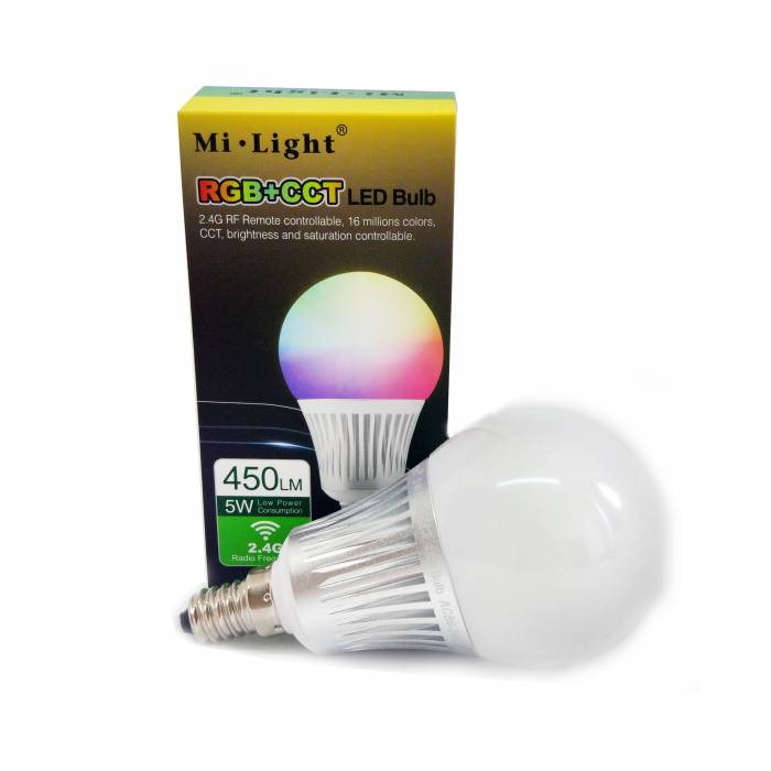 Abcled.ee - 5W RGB+CCT E14 LED Light smart bulb Wifi, 2.4 GHZ