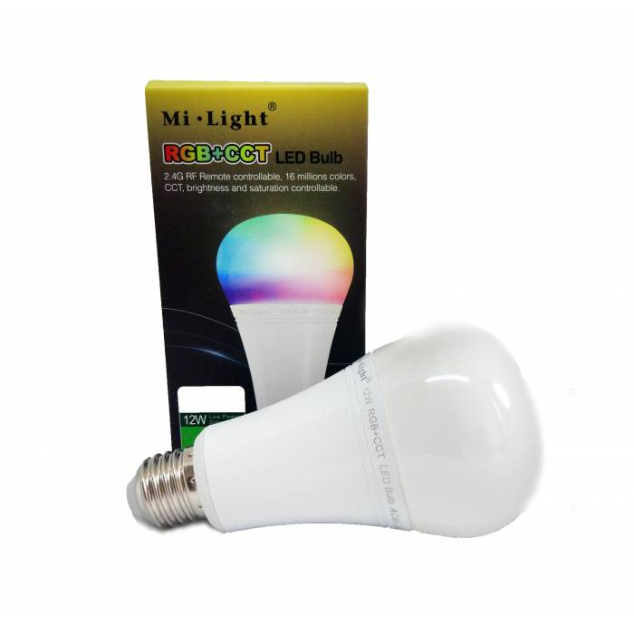 Abcled.ee - 12W RGB+CCT E27 Led smart лампочка Wifi, 2.4GHz