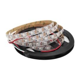 WS2812B Pixel RGB LED Riba 5050smd, 60Led/m, 14,4W/m, IP20, 5V PCB White Premium
