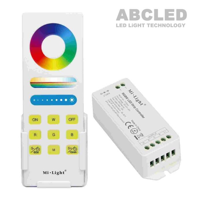 Abcled.ee - Комплект пульт RF + RGBW контроллер 15A 12-24V