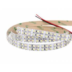 LED double row Strip 6000k 3528smd, 240Led/m, 19,2W/m,  2400Lm, IP20, 12V