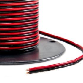 LED kaabel 2x0,5 must/punane