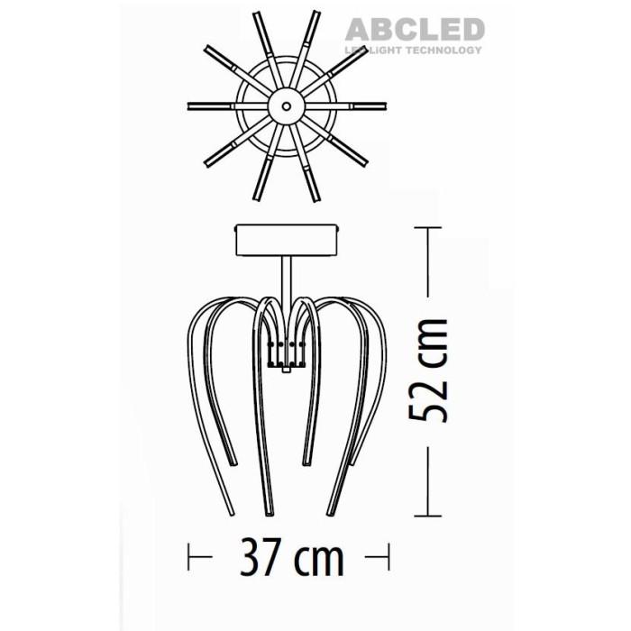 Abcled.ee - LED Laelühter Tulip Z-10 Led 45W 3460lm 230V