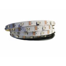WS2812B Pixel RGB LED Лента 5050smd, 30Led/m, 7,2W/m, IP20, 5V PCB White Premium