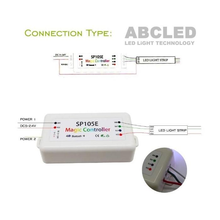 Abcled.ee - Magic Bluetooth kontroller Pixel Led ribadele SP105E