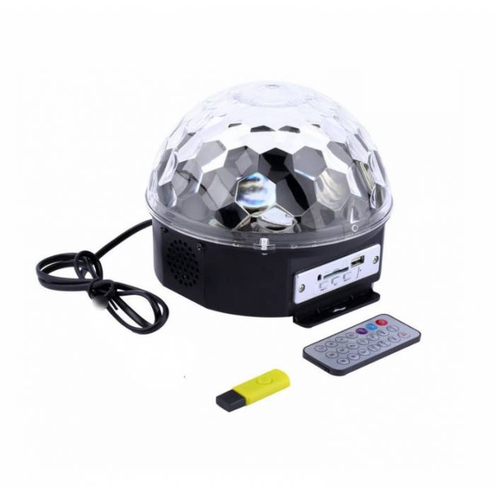 Abcled.ee - Led Magic Disco ball + USB, remote controller, Mp3