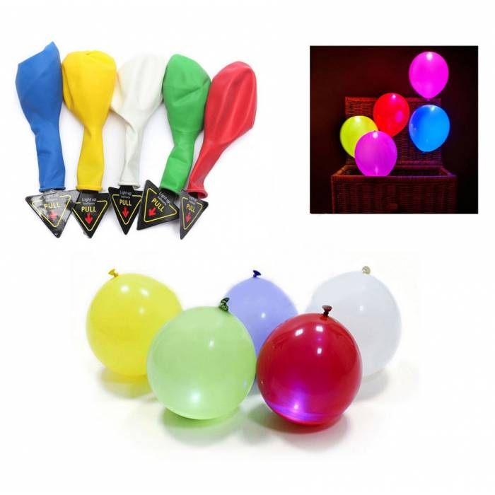 Abcled.ee - LED Balloons Night Glow Balloons 5pcs/set