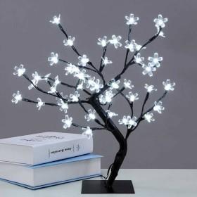 Abcled.ee - LED-tuledega jõulupuu kirsiõied 55cm 220V Külm valge